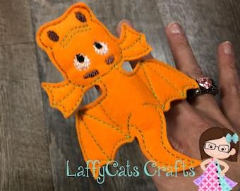 Handmade Set of 2 Dragon Finger Puppets, Finger Puppets, Finger Puppet, Puppet, Puppets, Dragon Puppet, Dragon Puppets, Dragons, Dragon