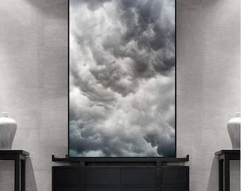 Cloud Photo Print Large Wall Art Prints Cloud Photography Nature Art Print Instant Download Large Abstract Poster Printable Abstract Art