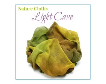 Waldorf Nature Table, Nature Scarves, Nature Table Cloths, Seasonal Decoration Fabric, Light Cave Earthy Waldorf Home, Cotton, Hand-Dyed