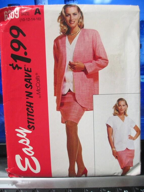 McCalls Nähen Papier Muster Dame Anzug Stich und Mustergröße