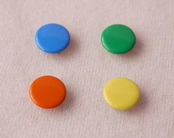 50 sets, Mixed Color (4 Colors) Capped Prong Snap Button Set 4, Size 18L (11.3 mm)