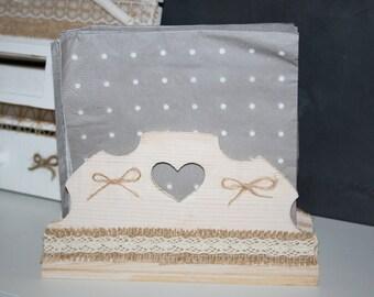 display towels, or box, aged wood burlap