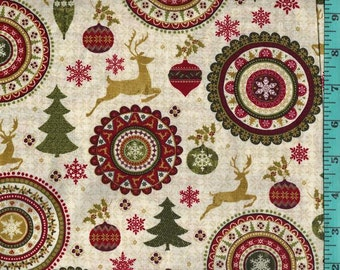 Holiday Simply Christmas, Fabric Quilting Crafting Home Decor