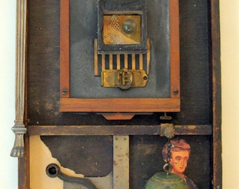 Mixed Media Assemblage Found Object Art Shadow Box Abstract Contemporary Art