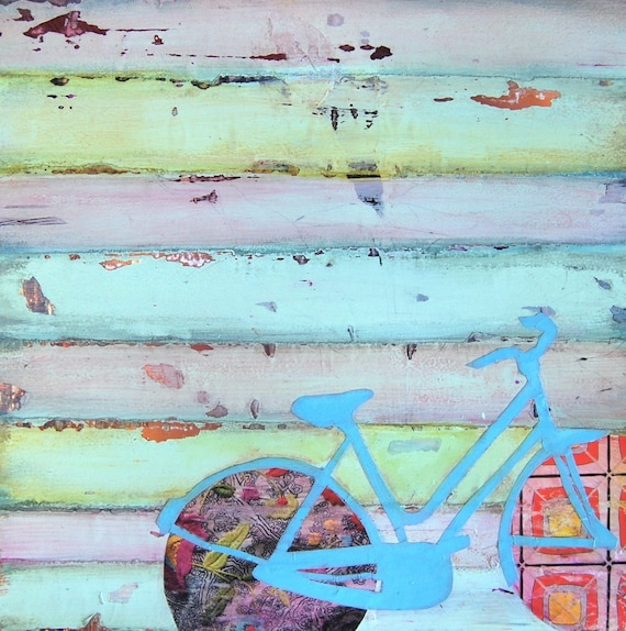 """Bicycle/ Bike - """"Punctured Bicycle On A Hillside Desolate"""" - Fine Art Print, All Sizes"""