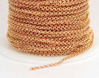 2.0mm Rolo Chain - Rose Gold - 2.0mm Links - CH48 - Choose Your Length