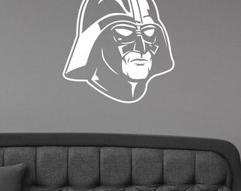 Darth Vader Wall Decal Star Wars Sticker Batman Mask Art Decorations for Home Housewares  Living Room Bedroom Dorm Movie Decor sws12
