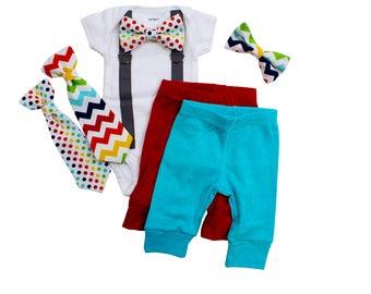Rainbow Baby Outfit. Newborn boy Coming Home Outfit. Newborn hospital outfit. Boy Coming Home Clothes. Newborn bowtie bow tie tie.