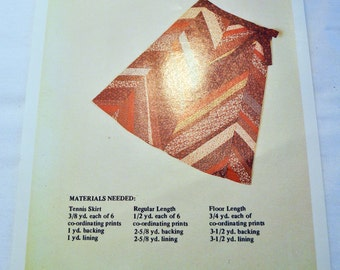 Ladies' strip quilted skirt sewing pattern