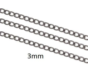 1.5 meters Stainless Steel 3mm oval chain