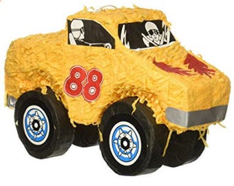 Monster Truck Pinata  17 inches by 10 inches Birthday Boy