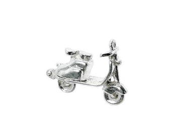 Sterling Silver Opening Lambretta Scooter Charm For Bracelets