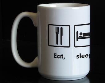 Eat Sleep Shoot 15 oz Coffee Mug