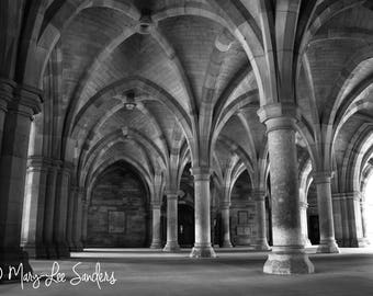 Glasgow University, Scotland photo of the cloisters perfect to make a statement on any wall
