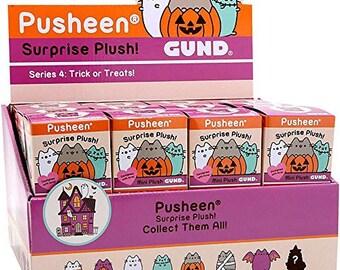 Gund Pusheen Cat Halloween Series 4 Trick or Treats Case of 24 Mini Surprise Plush