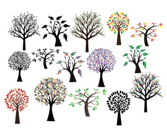 Tree SVG, tree sticker, tree clipart, tree vinyl decal, svg files for cricut  INSTANT DOWNLOAD - Royalty Free, Commercial Use, Business Use.