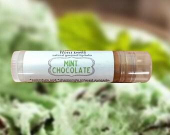 Mint Chocolate Lip Balm / Natural Lip Balm/ Lip Balm/ Vegan Lip balm / Beeswax lip balm / Chocolate lip balm / Organic lip balm/ Mint Lip