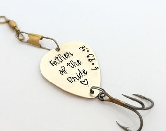 Father of the Bride Gift Personalized Fishing Lure - Father Gift from Daughter  - Wedding - Dad Gift - Gift for Him - Fishing - Gift to Dad
