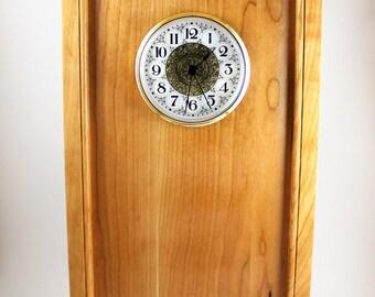 Reclaimed cherry shaker wall clock