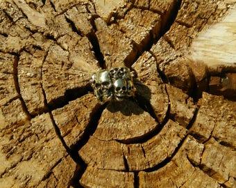 Skull Ring in brass