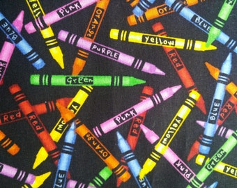 Crayon Fabric by the Fat Quarter