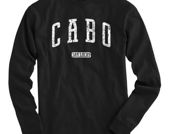 LS Cabo San Lucas Mexico Tee - Long Sleeve T-shirt - Men and Kids - S M L XL 2x 3x 4x - Los Cabos Shirt, Mexican, Baja Sur - 4 Colors