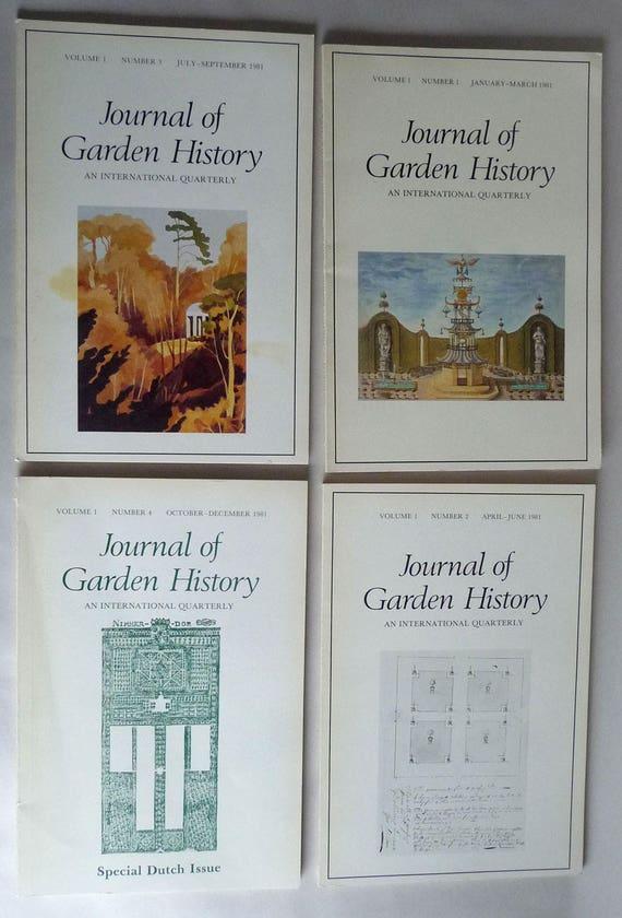 Journal of Garden History An International Quarterly Volume 1, 1981 Full Year - 4 issues