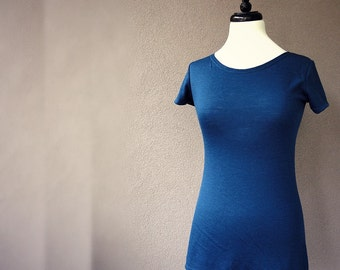 Lightweight merino wool t-shirt, wool shirt, layering wool top, wool shirt