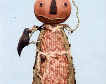 Primitive PATTERN Corny Pumpkin Man