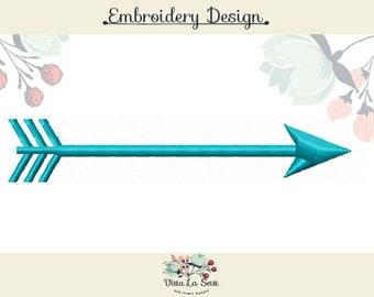 Arrow Satin Stitch Embroidery Design