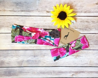 Mommy And Me Headbands - Matching Set - Mommy And Me - Floral Headbands - flower Baby Shower - Baby Shower Gift