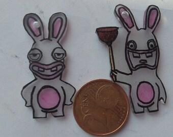 Earrings lapin crétin
