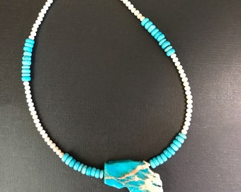 Imperial Turquoise Jasper and Magnesite Necklace