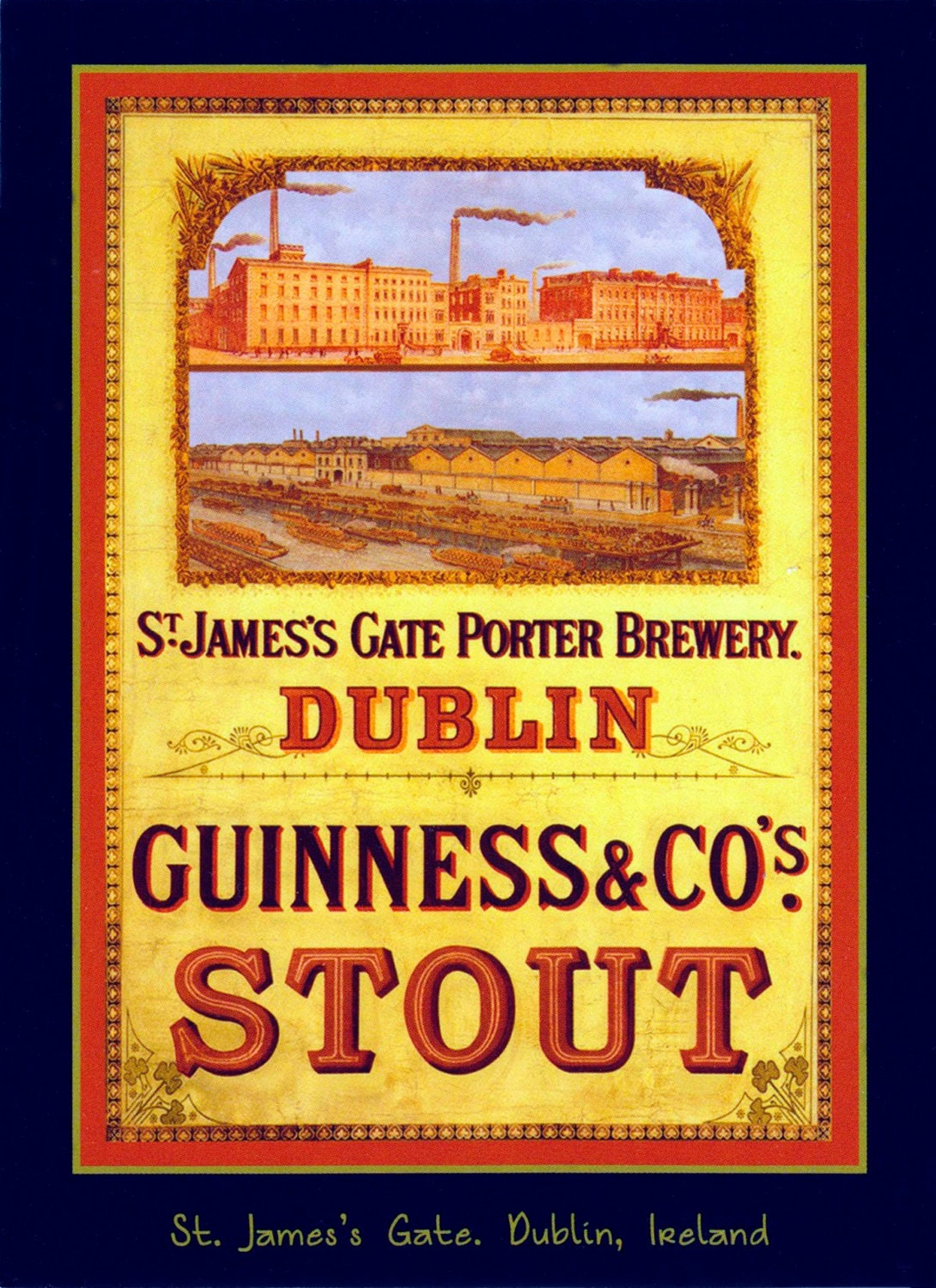 Guinness Metal Sign Vintage Retro Shabby-Chic Wall Plaque