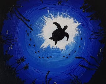 Sea Turtle painting acrylic art