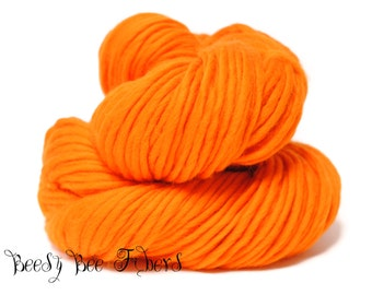 MANDARIN - Super Bulky Yarn Chunky Knitting, Pencil Roving, Chochet, Weaving Merino Yarn - 200 grams skein