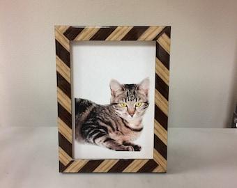 Tabby Cat Photo Frame/ Cat Frame