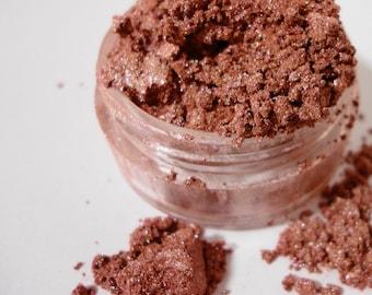Pink Brown Eye ShadowVegan Natural Cosmetics Eyeliner Mineral Makeup Eye Shadow 10g Sifter Jar Dusty Rose Eyeshadow LITTLE SECRETS