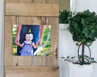 Rustic Wooden Picture Frame. Rustic Home Decor. Farmhouse Decor. Hand Made Picture Frame. Wooden Frame. Wedding Gift. Home Decor. Frame.