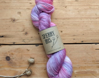 Hand dyed yarn - Grand Budapest colourway -  Merino wool/ nylon sock yarn