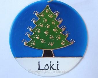 Pet Christmas Tree Decoration Suncatcher
