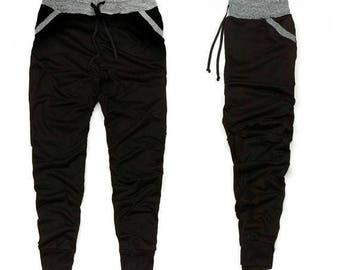 Black/Gray Men's Joggers
