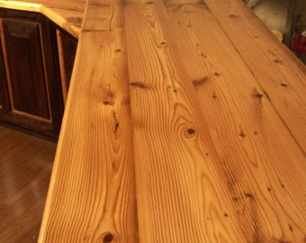 Custom Reclaimed Wood Plank Countertops for 45 dollars a sq ft