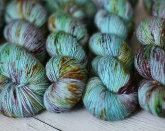 Ready To Ship - I Suspect The Nargels - Speckled Yarn - Sock Yarn - Hand Dyed -Yarn - Merino - Nylon - Yarn - Knitting - Harry Potter - BFL