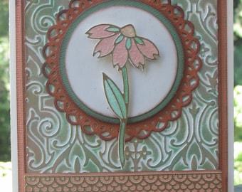 Handmade Daisy Card