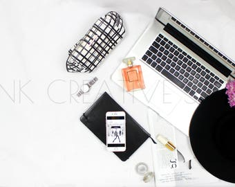 Fashion and Lifestyle Styled Photography | Laptop Mockup | Chanel | Social Media Images | Bloggers| Instagram Image