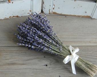 Dried Lavender Bridesmaid Bouquet / Wedding Bouquet /  French Lavender Bouquet / Lavender Bunch