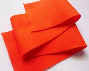 Fieltro de color Naranja, rollo fieltro, Tamaño 25 cm x 90 cm, fieltro muy suave al tacto, fieltro acrilico, fieltro de gran calidad