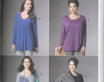 Misses Loose Pullover Batwing Tops Sizes LRG-XXL New Butterick Pattern 6290