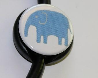 The ORIGINAL Stethoscope ID Tag---Blue MOD Elephant--